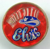 Elvis Presley - 'Top Hat' Prismatic Crystal Badge